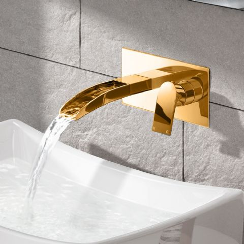 Dorato Minimo Wall Mounted Basin Mixer